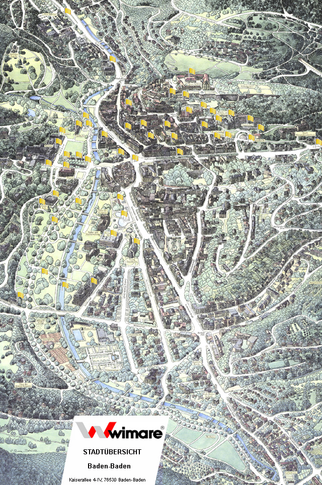Map of BadenBaden BadenBaden wimare Office for tourism and
